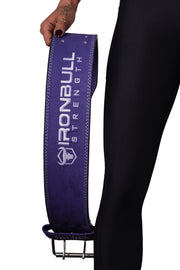 purple lifting back support suede leather belt