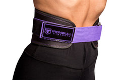 black-purple belt back protection for powerlifting fitness crossfit or gym