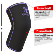 black-purple iron bull strength 5mm elbow sleeve features