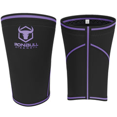 black-purple iron bull strength 7mm knee sleeves front and back