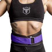 black-purple iron bull strength women weight lifting belt