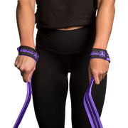 black-purple weight lifting straps for better grip
