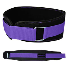 black-purple women weight lifting belt back support for squat and deadlift