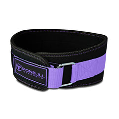 black-purple women weight lifting belt iron bull strength