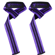 black-purple women weight lifting straps