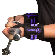 black-purple women wrist wraps biceps curl