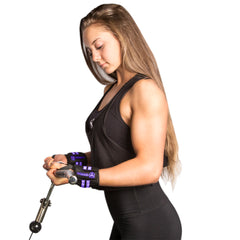 black-purple women wrist wraps protection for arms workout