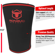 black-red iron bull strength 7mm knee sleeves features 2