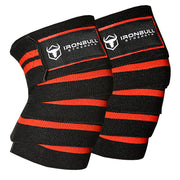 black-red knee wraps for pain free squats