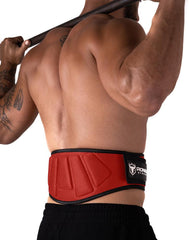 red padded squat and powerlifting belt
