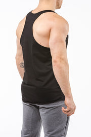 black gym stringer sportswear Y back side