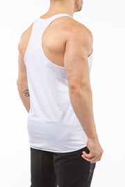 white gym stringer sportswear Y back side