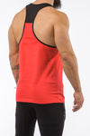 red-black gym stringer sportswear back side
