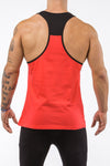 red-black gym tank top unleash the beast back