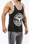 black-white workout stringer unleash series front side
