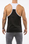 black-white gym tank top unleash the beast back