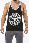 black-white workout muscle stringer iron bull strength front