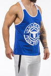 blue-white workout stringer unleash series front side