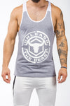 gray-white workout muscle stringer iron bull strength front
