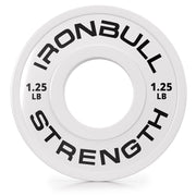 1-25-lb white fractional bumper plate front view