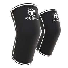 black-white powerlifting elbow sleeve iron bull strength
