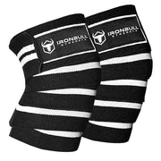 black-white knee wraps for pain free squats