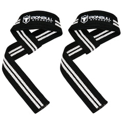black-white lifting support straps for powerlifting
