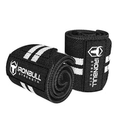 black-white wrist wraps for weight lifting