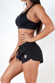 black quick dry breathable women shorts performance series