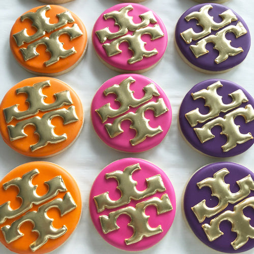 One Dozen Designer Inspired Decorated Sugar Cookies