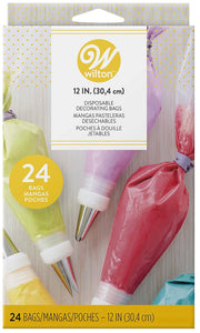 Wilton 12-Inch Disposable Decorating Piping Bags, Bags Only (24-Count)