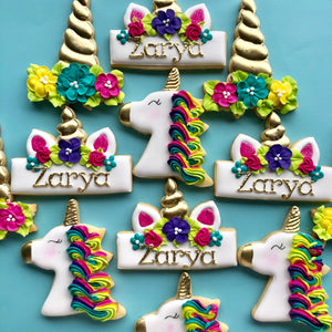 Two Dozen Unicorn Sugar Cookies