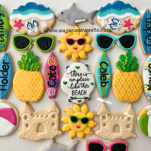 Two Dozen Beach Party Sugar Cookies