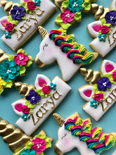 Load image into Gallery viewer, Two Dozen Unicorn Sugar Cookies