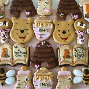 Two Dozen Pooh Sugar Cookies