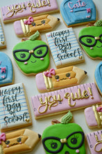 Load image into Gallery viewer, One Dozen Back to School Decorated Sugar Cookies