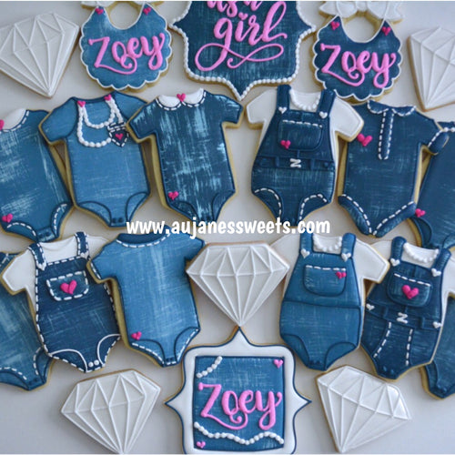 Two Dozen It's a Girl Sugar Cookies