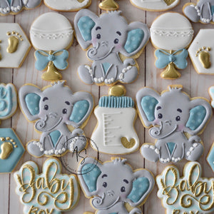 Two Dozen Elephant Baby Shower Cookies