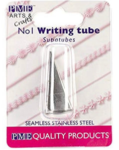 PME Seamless Stainless Steel SupaTube Writer #1 Decorating Tip,