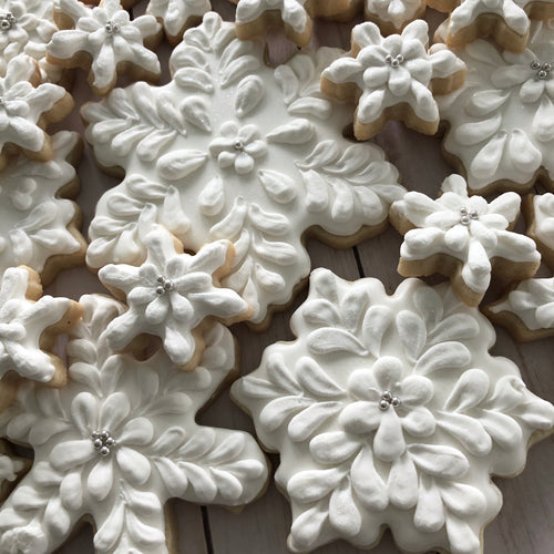 One Dozen Snowflake Sugar Cookies