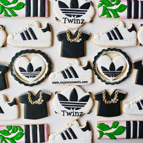 Two Dozen Sneaker Decorated Sugar Cookies