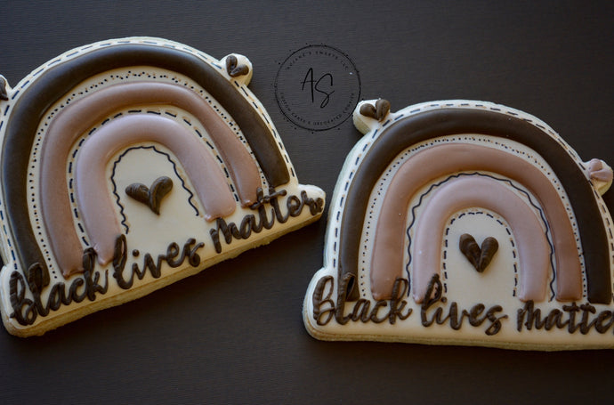 Melanin Rainbow Custom Sugar Cookies