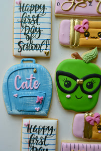 One Dozen Back to School Decorated Sugar Cookies