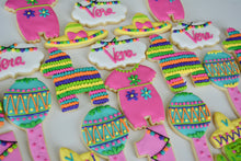 Load image into Gallery viewer, Two Dozen Fiesta Themed Sugar Cookies