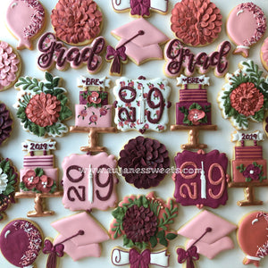 Two Dozen Graduation Sugar Cookies