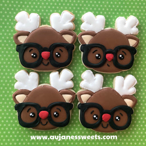 One Dozen Reindeer Sugar Cookies