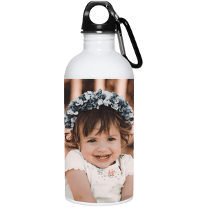 23663 20 oz. Stainless Steel Water Bottle Add your own Photo (Email Your Photo after ordering) Drinkware CustomCat White One Size