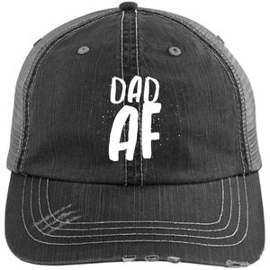 Dad AF Distressed Unstructured Trucker Cap