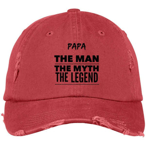 Papa the Man the Myth the Legend District Distressed Dad Cap