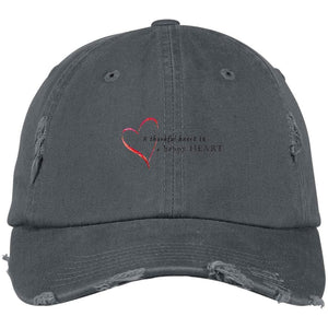 A Thankful Heart District Distressed Dad Cap